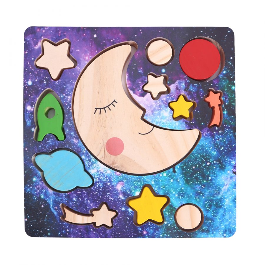 WOODEN MOON PUZZLE MADE IN VIETNAM