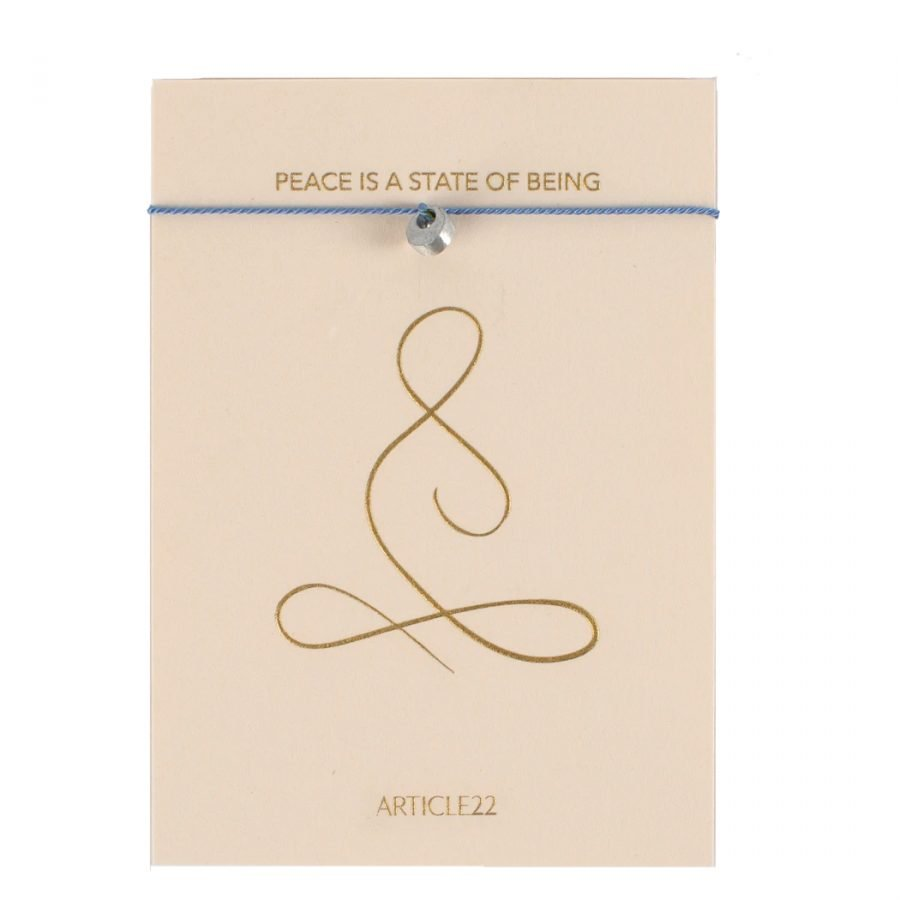 ARTICLE 22 STRING MANTRA BRACELET PEACE BLUE