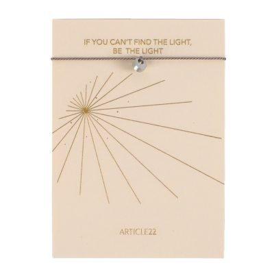 ARTICLE 22 STRING MANTRA BRACELET BE THE LIGHT GREY